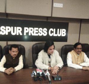 हमर पहुना कार्यक्रम में पहुचे फिल्म स्टार राहुल राय  बिलासपुर प्रेस क्लब